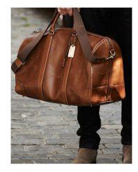 weekendowa torba skórzana